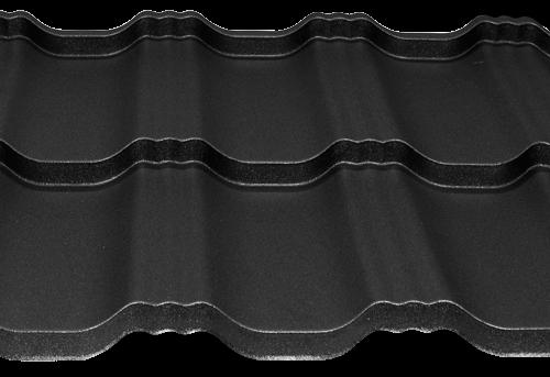 Модульна черепиця EGERIA SSAB 35_350 Mat 33 крупнозернистий чорний