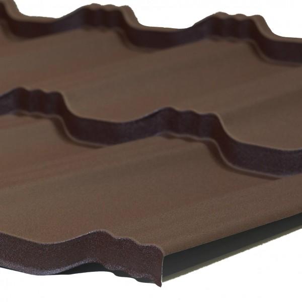 Модульна черепиця EGERIA SSAB 35_350 Mat 887 крупнозернистий шоколад_1